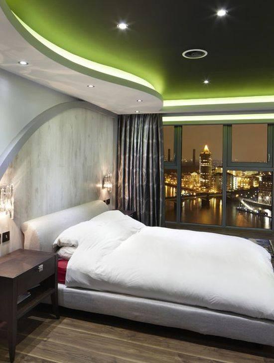 Подвесные потолки своими руками в спальне