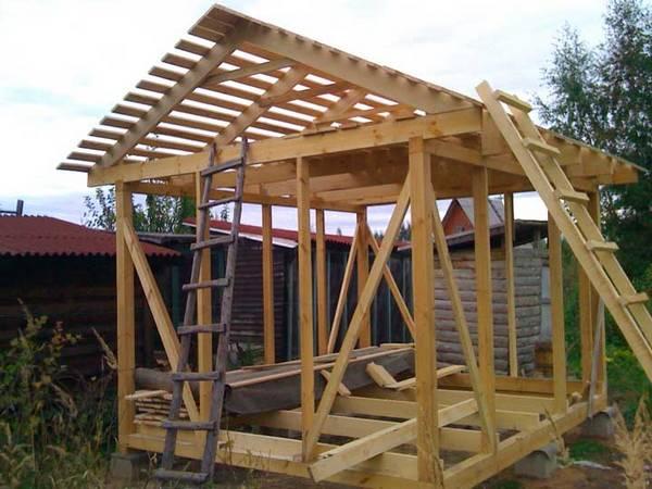 Как построить деревянный сарай пошаговая