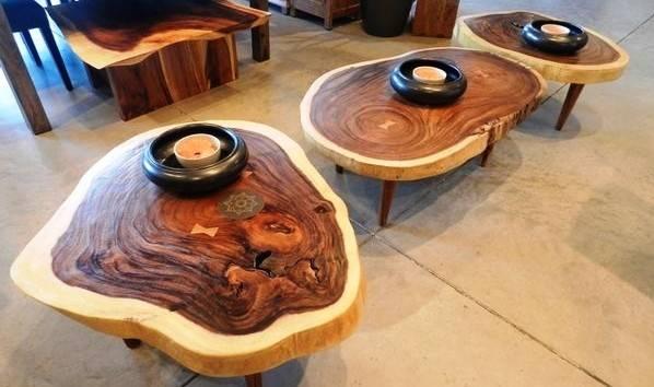 Стол из торцевых спилов дерева своими руками