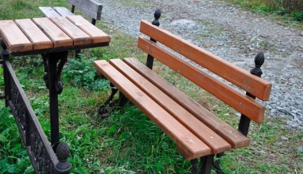 Столик и скамейка для кладбища своими руками 110