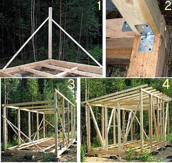 Как построить бытовку своими руками пошагово 79