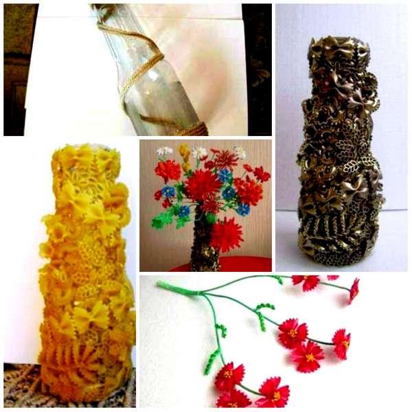 Декор макаронами с картинками