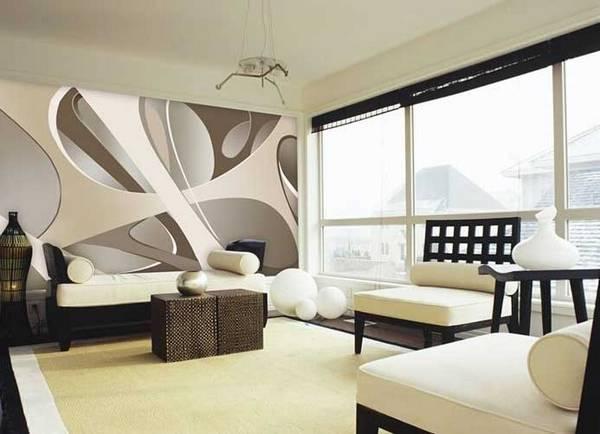 Как выглядят 3D обои в интерьере? Идеи украшения стен