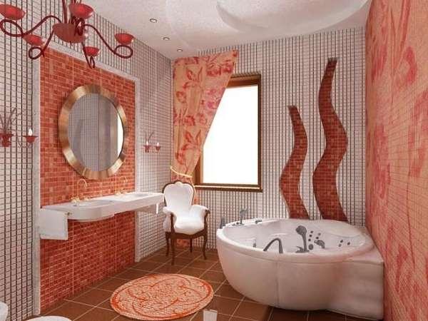Украшаем ванную зеркалами